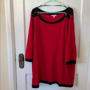 Spense Colorblock sweater with zipper detail